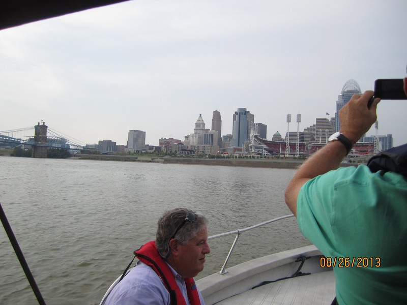Richard Behrman & Jim Friedman 0n Ohio River, Aug. 26, 2013