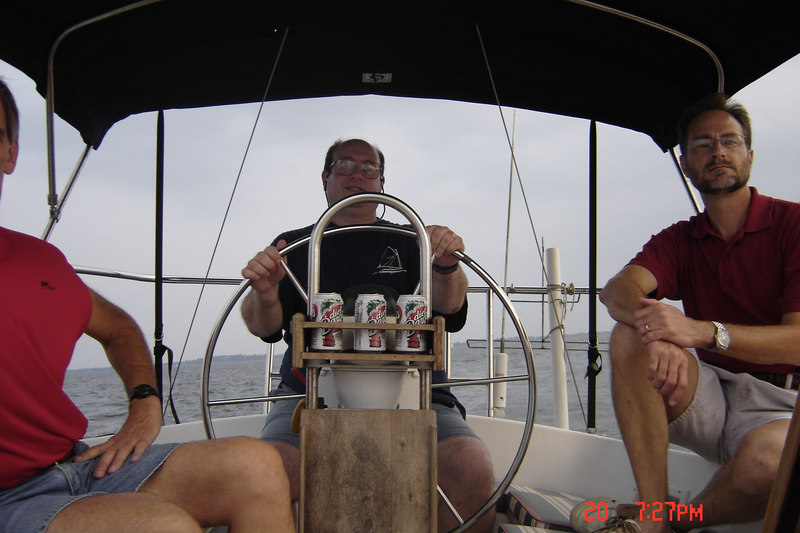 Sailing with Larry Bowers, July 20,2004